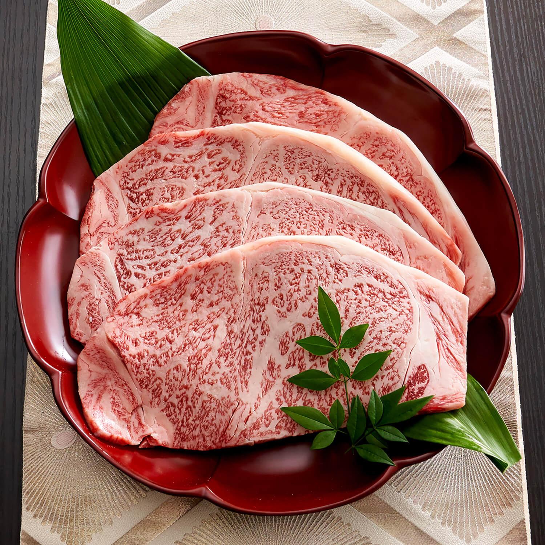 ステーキなすき焼き A5 鹿児島黒牛 厚切り 1セット600g